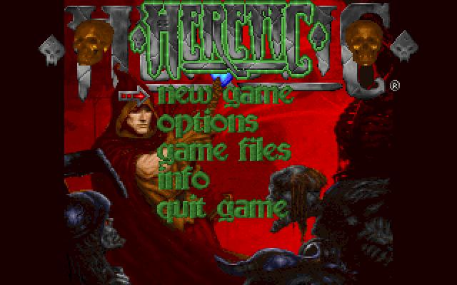 Schermata iniziale di Heretic