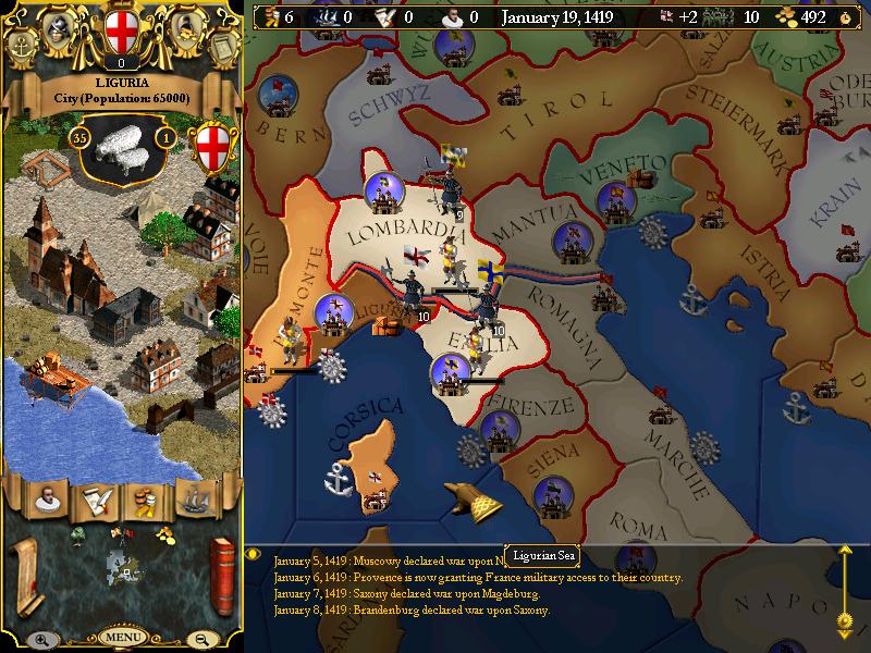Schermata di gioco