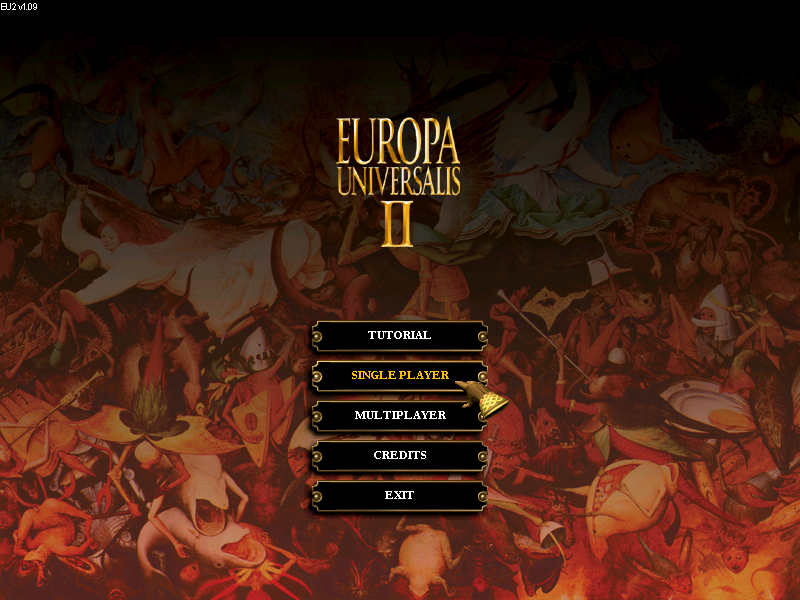 Menù principale Europa Universalis II