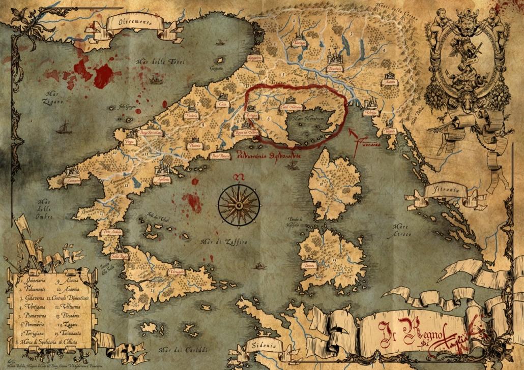 Mappa del Regno di Taglia